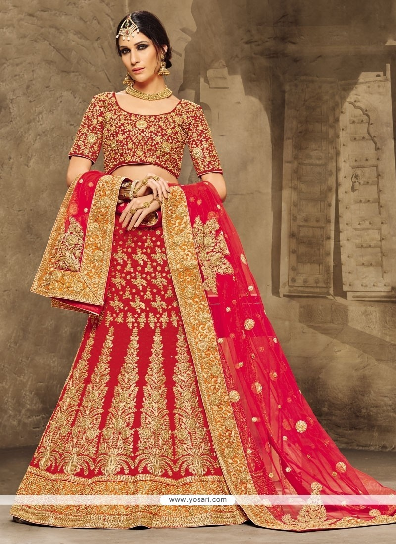 Brilliant Velvet Patch Border Work A Line Lehenga Choli