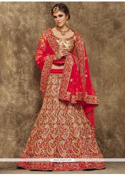Lurid Kasab Work Silk A Line Lehenga Choli