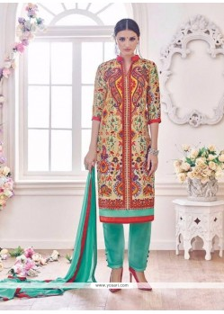 Ruritanian Embroidered Work Multi Colour Designer Suit