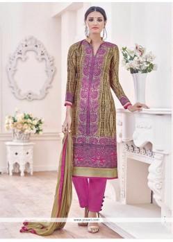 Baronial Banglori Silk Purple Embroidered Work Designer Suit