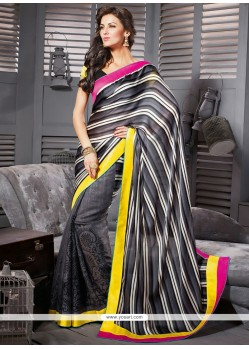 Opulent Black Art Silk Casual Saree