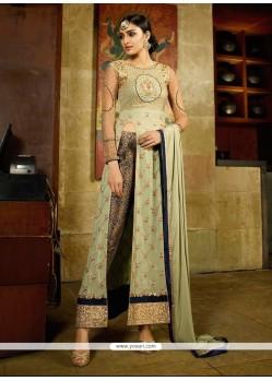 Voguish Georgette Green Designer Suit