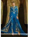 Honourable Georgette Embroidered Work Designer Suit