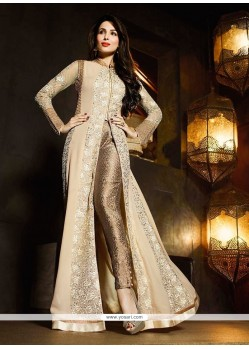Malaika Arora Khan Beige And Cream Designer Suit