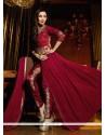 Malaika Arora Khan Maroon Designer Suit