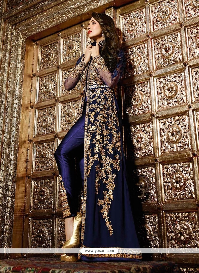 Malaika Arora Khan Embroidered Work Designer Suit