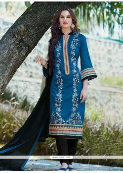 Precious Embroidered Work Churidar Designer Suit