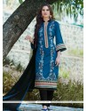 Precious Embroidered Work Churidar Designer Suit