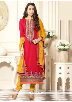 Karishma Kapoor Cotton Churidar Designer Suit