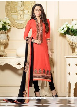 Karishma Kapoor Orange Churidar Designer Suit