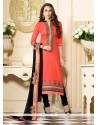 Karishma Kapoor Orange Churidar Designer Suit