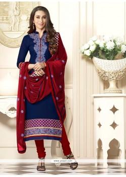 Karishma Kapoor Navy Blue Churidar Designer Suit