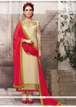 Resplendent Pure Georgette Designer Straight Salwar Suit