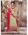 Fine Patch Border Work Pure Georgette Designer Straight Salwar Suit