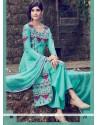 Royal Resham Work Turquoise Designer Salwar Suit