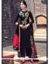 Fab Cotton Satin Black Designer Salwar Suit