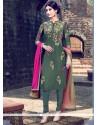 Spectacular Green Churidar Designer Suit