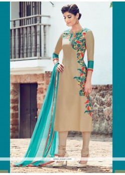Dilettante Cotton Satin Churidar Designer Suit