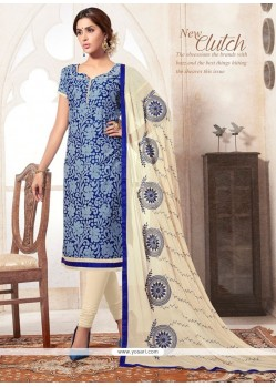 Superb Jacquard Print Work Churidar Designer Suit