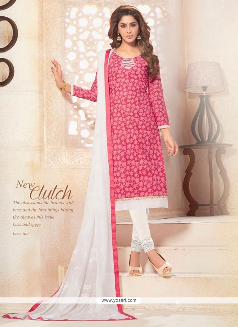 Delightsome Print Work Churidar Designer Suit