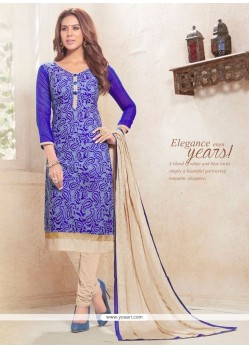 Amusing Print Work Churidar Designer Suit