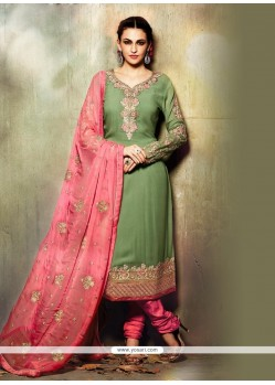 Staggering Green Churidar Designer Suit