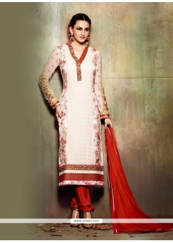 Aristocratic Resham Work Churidar Designer Suit