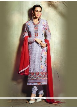 Voguish Lavender Churidar Designer Suit