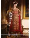 Celestial Red Anarkali Salwar Kameez