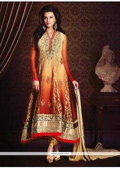 Bewildering Georgette Multi Colour Anarkali Salwar Kameez