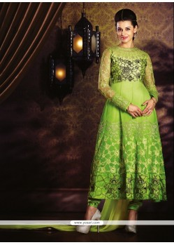 Lustre Embroidered Work Georgette Anarkali Salwar Kameez