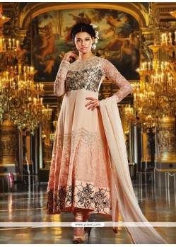 Luxurious Embroidered Work Anarkali Salwar Kameez