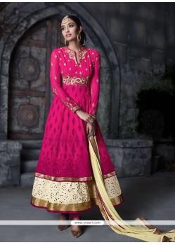 Dazzling Hot Pink Anarkali Salwar Kameez