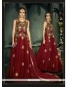Epitome Embroidered Work Net Anarkali Salwar Kameez