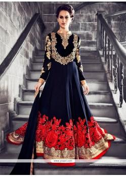 Celestial Navy Blue Anarkali Salwar Kameez