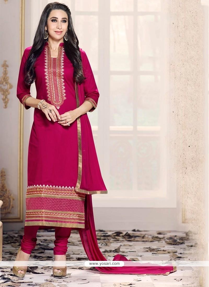 Karishma Kapoor Magenta Designer Suit