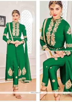 Fantastic Resham Work Faux Chiffon Designer Suit