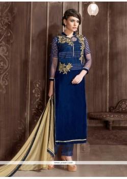 Lurid Navy Blue Designer Suit