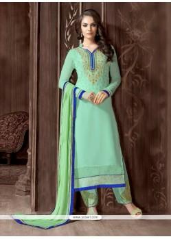 Versatile Sea Green Designer Suit