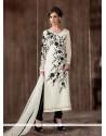 Beautiful Georgette Off White Designer Suit