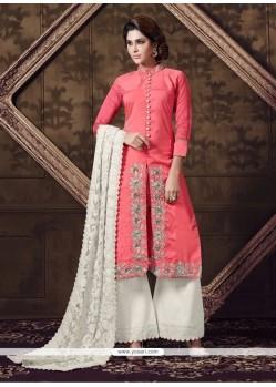 Lurid Georgette Embroidered Work Designer Suit