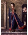 Nice Georgette Navy Blue Designer Suit