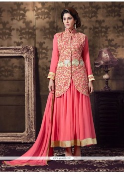 Intriguing Embroidered Work Anarkali Salwar Kameez
