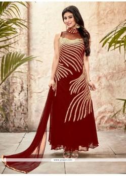 Mesmeric Red Georgette Designer Suit