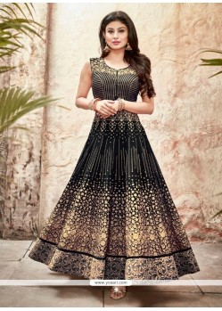 Thrilling Black Embroidered Work Designer Suit