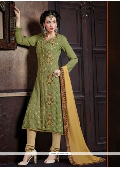 Blooming Georgette Churidar Designer Suit