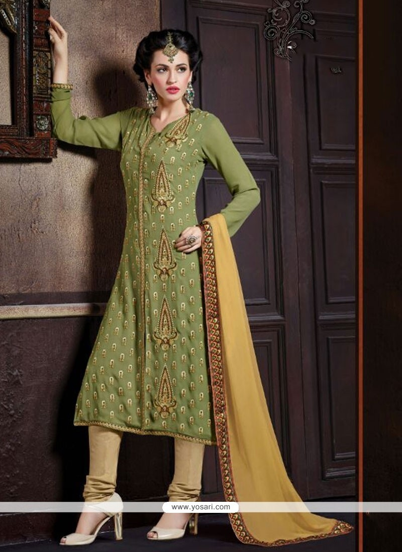 Blooming Georgette Churidar Designer Suit