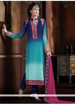 Orphic Multi Colour Designer Straight Salwar Kameez
