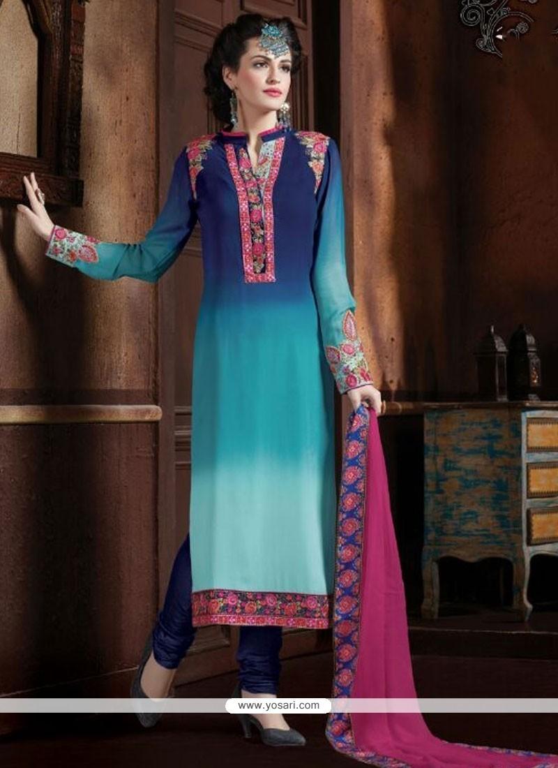 Orphic Multi Colour Designer Straight Salwar Kameez