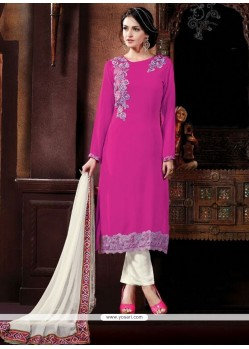 Epitome Georgette Patch Border Work Pant Style Suit